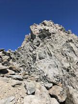 Via Normale Aiguille Marbreés - In cresta al passaggio di III grado