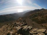 Via Normale Monte Argentea - Cresta Rio Guadi Arenzano - Dalla cima con panorama