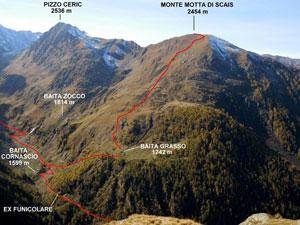 Via Normale Monte Motta di Scais