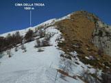 Via Normale Cima della Trosa - da Ovest - La cima, da S, dalla Bassa di Cardada (q. 1610 m)