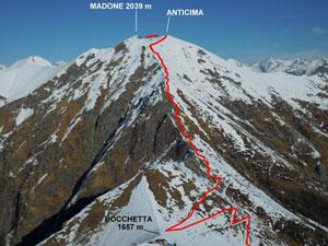 Via Normale Madone (di Mergoscia) – Cresta SSW