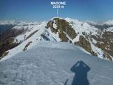 Via Normale Madone (di Mergoscia) – Cresta SSW - La cresta sommitale, dall'anticima