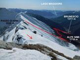 Via Normale Cima di Nimi - Dalla vetta, la cresta SSE e il panorama