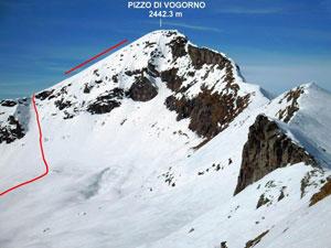 Via Normale Pizzo di Vogorno - dal versante SE e per la cresta SSE