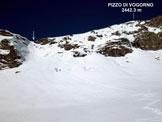 Via Normale Pizzo di Vogorno - dal versante SE e per la cresta SSE - Il canale appena sceso