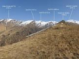 Via Normale Monte Tabor - Cima Pianchette - In salita, all'orizzonte la cresta tra il Tabòr e la Cima Pianchette