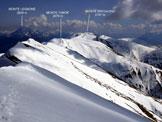 Via Normale Monte Tabor - Cima Pianchette - L'itinerario di cresta, dalla vetta della Cima Pianchette