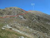 Via Normale Gaggio - da SW - Il Gaggio, come appare dalla Capanna Albagno