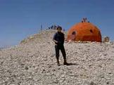 Via Normale Monte Amaro - In cima il bivacco Pelino