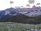 Via Normale Föpia - Immagine ripresa da NE, da Corte Nuovo (q. 1873 m)