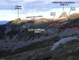 Via Normale Poncione d'Alnasca - Dalla Val d'Agro - Immagine ripresa da NE, da Mazèr (q. 2100 m)