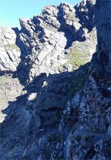 Via Normale Albiolino e Torrione d´Albiolo (S.A. degli Alpini) - Tratto attrezzato