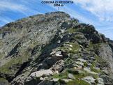 Via Normale Corona di Redorta - Sulla facile (I°) cresta SSW