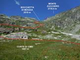 Via Normale Monte Zucchero - da Est - Immagine ripresa a Corte di Cima (q. 1987 m)