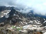 Via Normale Schwarz Wand - Croda Nera - Il rifugio Vedrette di Ries dalla cima
