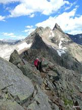 Via Normale Grosse Windschar - Cima del Vento - La cresta verso la Grubscharte
