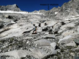 Via Normale Cima di Val Bona - Le belle placconate che salgono al Passo di Vazzeda