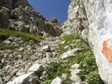 Via Normale Creta di Pricot - attacco della ferrata