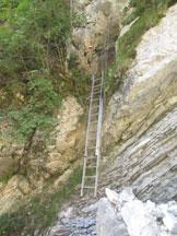 Via Normale Monte Corona in Friuli - Attrezzature lungo la ferrata