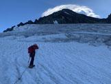 Via Normale Aletschhorn cresta sud-ovest - Al crepacciato ghiacciaio