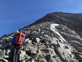 Via Normale Aletschhorn cresta sud-ovest - in cresta