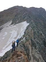 Via Normale Weisseespitze - Cresta Ovest - la cresta ovest