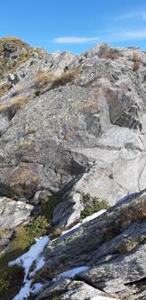 Via Normale Pizzo della Scala (da San Simone) - Il primo salto di roccia