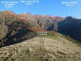 Via Normale Monte Tabor - Cima Pianchette - Pizzo di Gino - La prima parte della traversata, da Coren