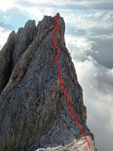 Via Normale Torre Armena - Itinerario vetta finale dopo la calata.