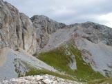 Via Normale Sas da la Giona - P.ta Vallaccia vista dalla cima