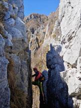 Via Normale Monte Moregallo (Cresta 50° CAI) - La caratteristica spaccatura