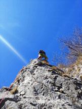 Via Normale Monte Moregallo (Cresta 50° CAI) - Al termine della placchetta aerea di L8