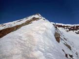 Via Normale Monte Stabbiello - Mottone della Tappa - Sulla cresta ESE del Monte Stabbiello, che si vede in alto