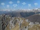 Via Normale Monte Grona - (via direttissima) - Panorama di vetta, verso NW