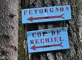 Via Normale Monte Petorgnon - Uno dei numerosi cartelli