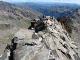 Via Normale Corno Tre Signori - La cresta vista dalla cima