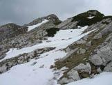 Via Normale Cima del Brutt Pass - Presso la forcelletta di cresta, la cima è al centro