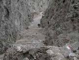 Via Normale Creta Grauzaria - Il canalone del Portonat