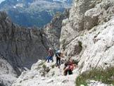 Via Normale Cima del Vallone - Altro passaggio della via normale