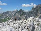Via Normale Cima del Vallone - In vetta verso Montasio e Jof Fuart