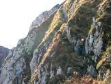 Via Normale Monte Colombera - Discesa esposta dal Colombera verso la Palantina