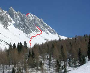 Via Normale Monte Sestier