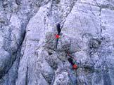 Via Normale Cimon del Froppa - Vista da forcella Kugy durante la salita