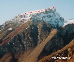 Via Normale Monte Borgà