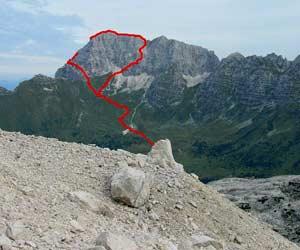 Jof di montasio via normale relazione scalata jof di for Piani di bungalow di 1500 m