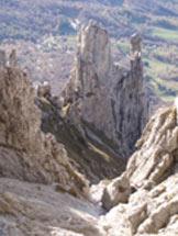 Via Normale Grigna Meridionale (Grignetta) - Il Gruppo del Fungo dal Canalone Cecilia