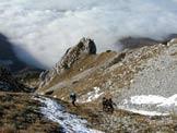 Via Normale Monte Paster - Parte finale del ripido vallone