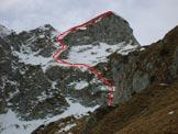 Via Normale Cima Làser - Percorso dal sentiero di avvicinamento