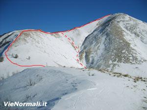 Via Normale Monte Trabucco