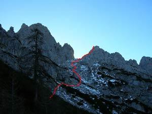 Via Normale Monte Libertan